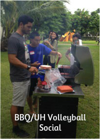 Nainoa & Landon on the grill